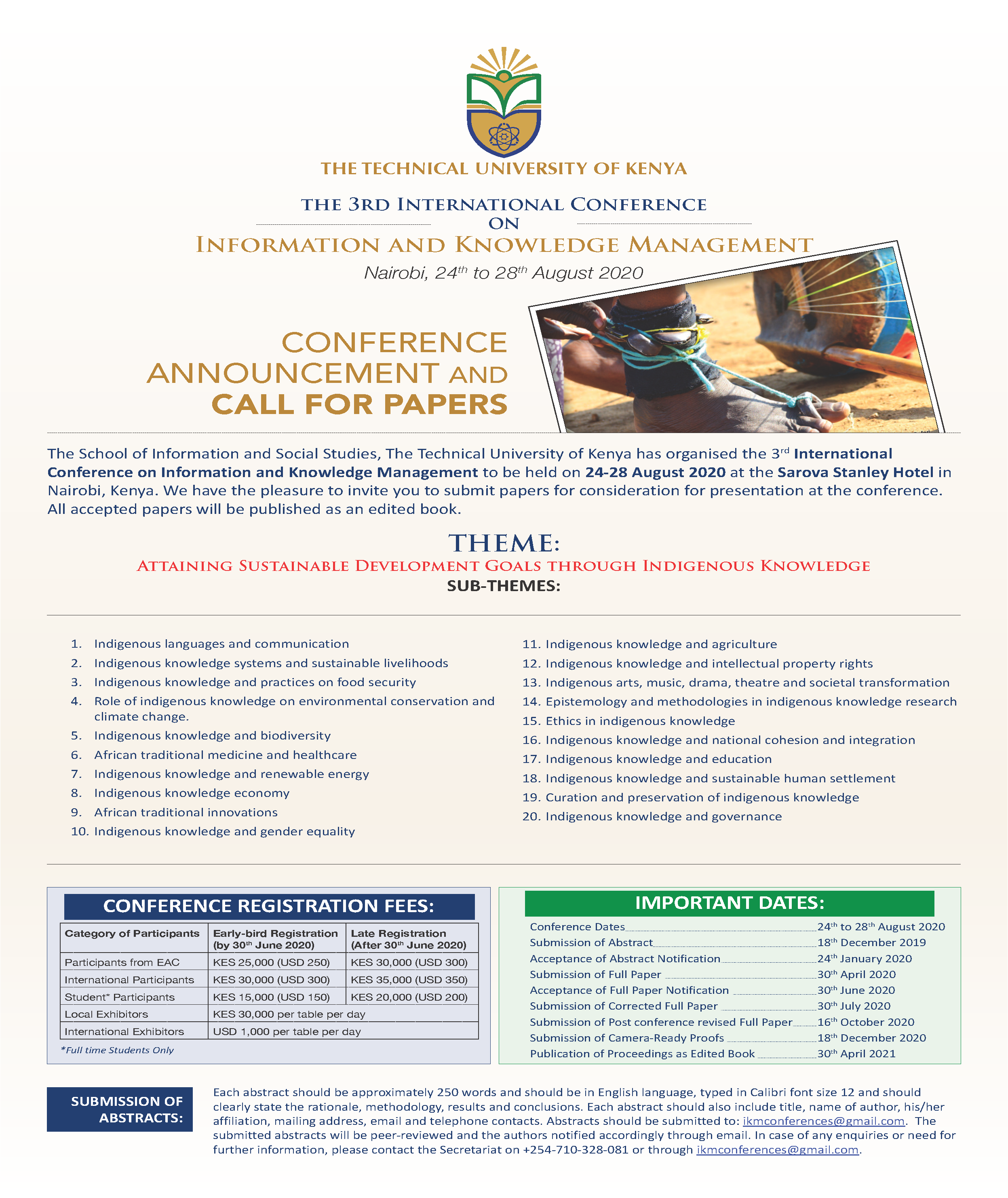 The 3rd International Conference on IKM